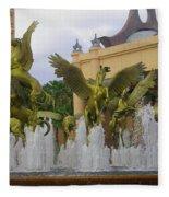 Flying Horses Of Atlantis Fleece Blanket