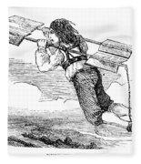 Flying Machine, 1678 Fleece Blanket