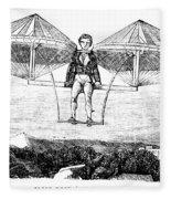 Flying Machine, 1807 Fleece Blanket