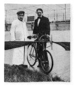 Flying Machine, 1912 Fleece Blanket