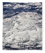 Flying Over Colorado Rocky Mountains Fleece Blanket