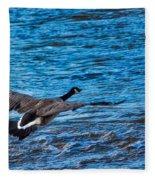 Flying Over Rough Waters Fleece Blanket