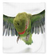 Flying Parrot  Fleece Blanket