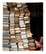 Flying Pigs And Books Fleece Blanket