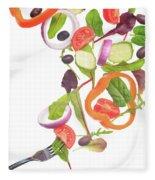 Flying Salad Fleece Blanket