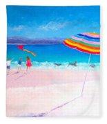 Flying The Kite Fleece Blanket