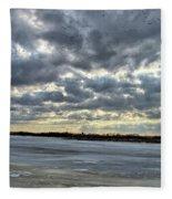 Flying Through Sun Rays 4 Fleece Blanket