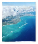 Flying To Paradise Fleece Blanket