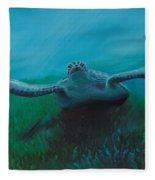 Flying Turtle Fleece Blanket