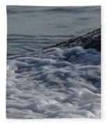 Foam On The Rocks Fleece Blanket