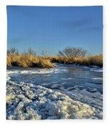 Foam On The Water Fleece Blanket