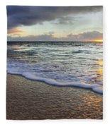 Foam Sunset Fleece Blanket