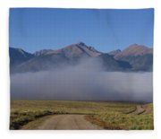 Fog In The Fast Lane Fleece Blanket