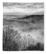 Fog In The Mountains - Pipestem State Park Fleece Blanket
