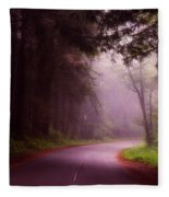 Fog In The Redwoods Fleece Blanket
