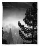 Fog In The Trees Fleece Blanket