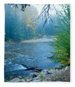 Fog In The Wenatchee Forest Fleece Blanket