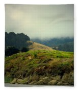 Fog Over The Lagoon Fleece Blanket
