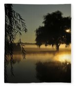Fog Water And Sun Fleece Blanket