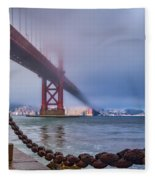 Foggy Day At The Golden Gate Bridge Fleece Blanket