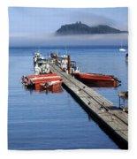 Foggy Dock Fleece Blanket
