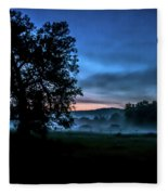 Foggy Evening In Vermont - Landscape Fleece Blanket