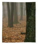 Foggy Forest  Fleece Blanket
