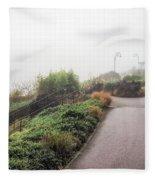 Foggy Langmoor Gardens - Lyme Regis Fleece Blanket
