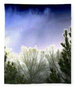 Foggy Moonlit Night Fleece Blanket