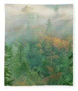 Foggy Morning In Humbolt County California Fleece Blanket