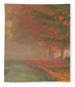 Foggy Morning On Cloudland Road Fleece Blanket