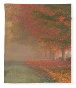 Foggy Morning On Cloudland Road Fleece Blanket