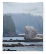 Foggy Morning On The Pacific Coast Fleece Blanket