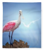 Foggy Morning Spoonbill Fleece Blanket
