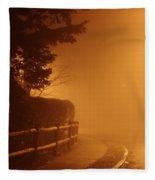Foggy Night In White Plains Ny 2006 04 Fleece Blanket