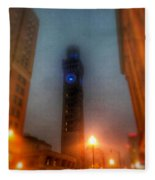 Foggy Night - The Bromo Seltzer Tower Fleece Blanket