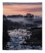 Foggy Sunrise At Chasewater Fleece Blanket