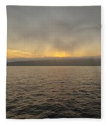 Foggy Sunset Fleece Blanket