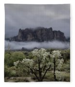 Foggy Winter Morning In The Supes  Fleece Blanket
