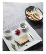 Foie Gras French Traditional Duck Pate With Bread  Fleece Blanket