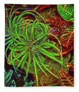 Foliage Abstract 3698 Fleece Blanket