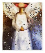 Folk Art Angel Fleece Blanket