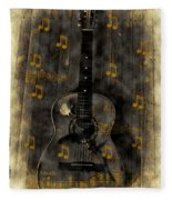 Folk Guitar Fleece Blanket