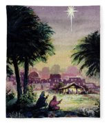 Follow The Star  Fleece Blanket