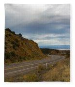 Follow The Winding Road Fleece Blanket