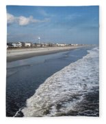 Folly Beach Charleston Sc Fleece Blanket