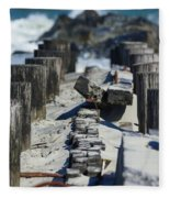 Folly Sea Wall Fleece Blanket