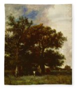 Fontainebleau Oaks 1840 Fleece Blanket
