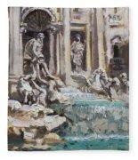 Fontana Di Trevi Rome Fleece Blanket