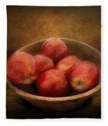 Food - Apples - A Bowl Of Apples  Fleece Blanket